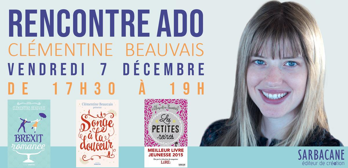 Clémentine Beauvais le 7 décembre à la librairie